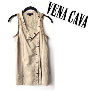 Vena Cava Beige Wool Snap Button Edgy Punk Vest